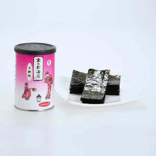 京のお海苔シリーズ(丸缶)<br> 『うめ10切40枚(板海苔4枚分)』