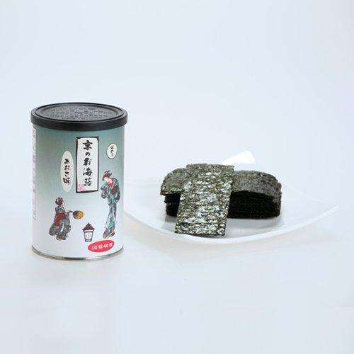 京のお海苔シリーズ(丸缶)<br> 『あおさ10切40枚(板海苔4枚分)』