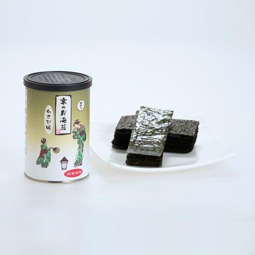 京のお海苔シリーズ(丸缶)<br> 『わさび10切40枚(板海苔4枚分)』