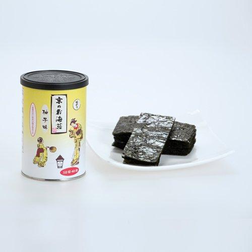 京のお海苔シリーズ(丸缶)<br> 『ゆず10切40枚(板海苔4枚分)』