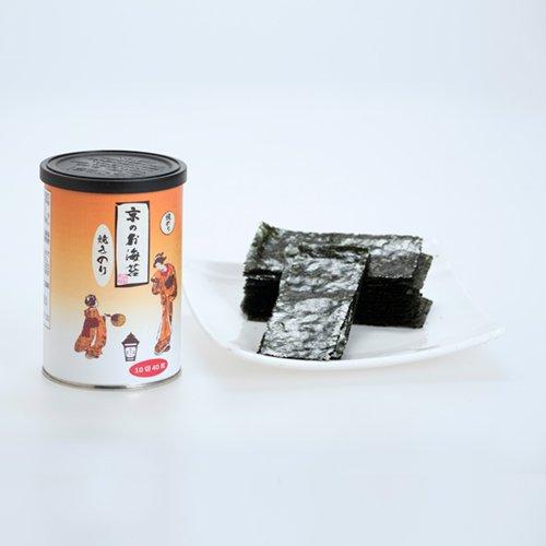 京のお海苔シリーズ(丸缶)<br> 『焼き海苔10切40枚(板海苔4枚分)』