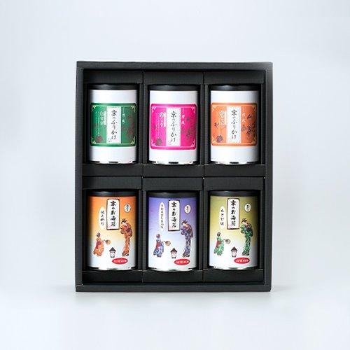 京のふりかけ&お海苔シリーズお好きな種類が選べるバラエティセット包装済・化粧箱入り【6本セット 缶】