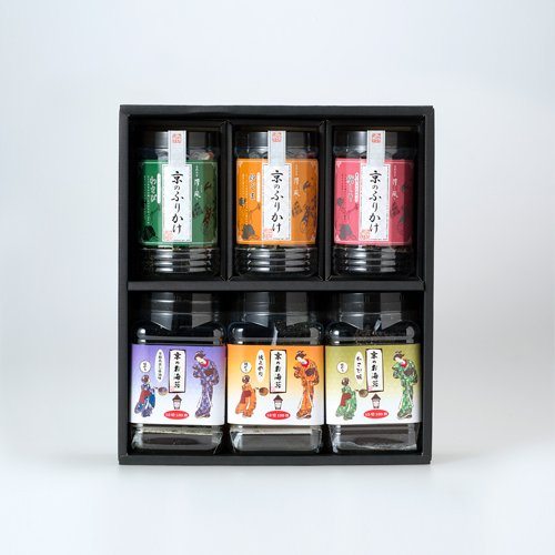 京のふりかけ&お海苔シリーズお好きな種類が選べるバラエティセット包装済・化粧箱入り【6本セット】