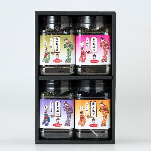 京のお海苔シリーズお好きなお海苔が選べるバラエティセット包装済・化粧箱入り【4本セット】