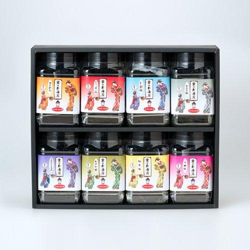 京のお海苔シリーズお好きなお海苔が選べるバラエティセット包装済・化粧箱入り【8本セット】