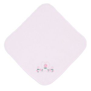 ミニタオル(ピンク透かしハート)ホワイト・ピンク