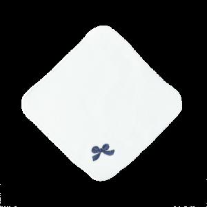 ミニタオル(紺リボン)ホワイト【新色】