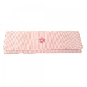カトラリーケース刺繍(ピンク)C
