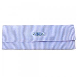 カトラリーケース刺繍(ブルー)20-A