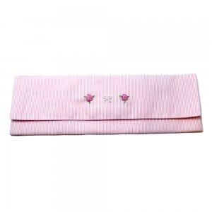 カトラリーケース刺繍(ピンク)20-C