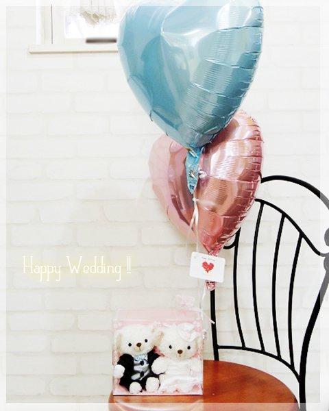 ウェディングcobe+バルーン(ブルー&ピンク)