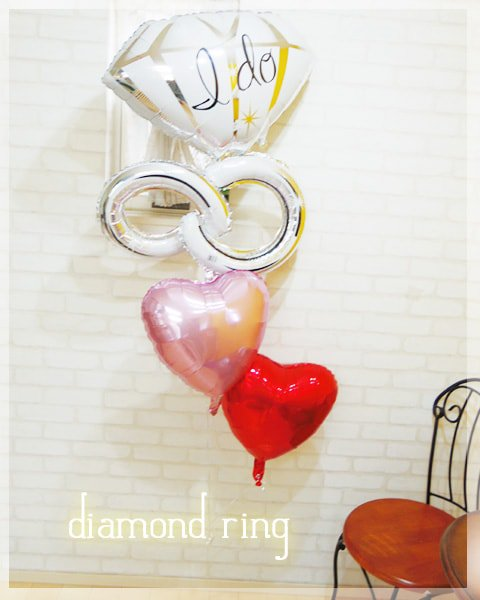 diamond ring(レッド&ピンク)
