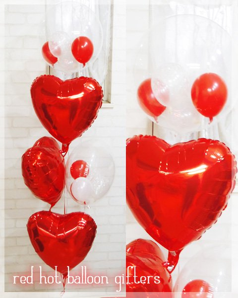 red hot balloon gifters(誕生日バルーン)<br />