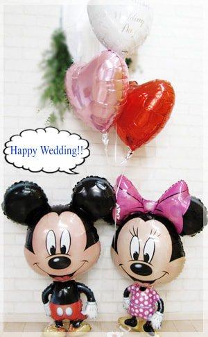 いつも仲良し♪ミッキーミニー , バルーン電報を全国宅配!結婚式・誕生日の電報に|福福バルーン
