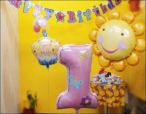 1歳誕生日女の子