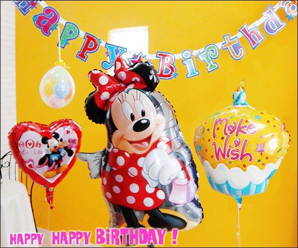 ミニーマウス誕生日バルーン