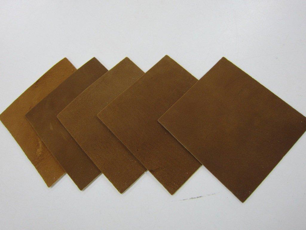 燻革製 握り革(四角形) 5枚セット