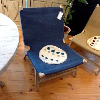 今なら送料無料。ハンモックのようなリラックスできるオシャレなジーンズブルーの一人掛けソファー