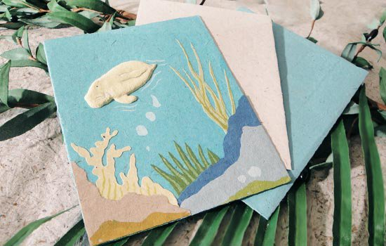 ぞうさんペーパー 海 グリーティングカード(ジュゴン)