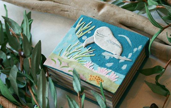 ぞうさんペーパー 海 ペーパーキューブ(シロイルカ)