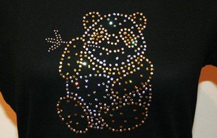 スワロフスキーTシャツ(パンダ)