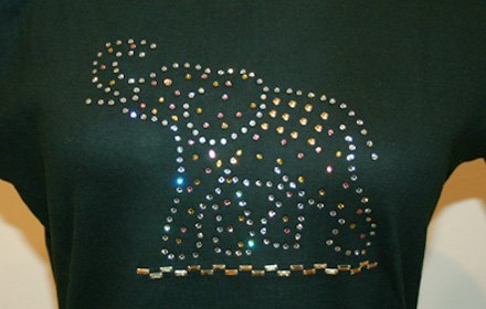 スワロフスキーTシャツ(ゾウ)