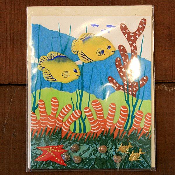 ぞうさんペーパー 海 グリーティングカード(熱帯魚-7)