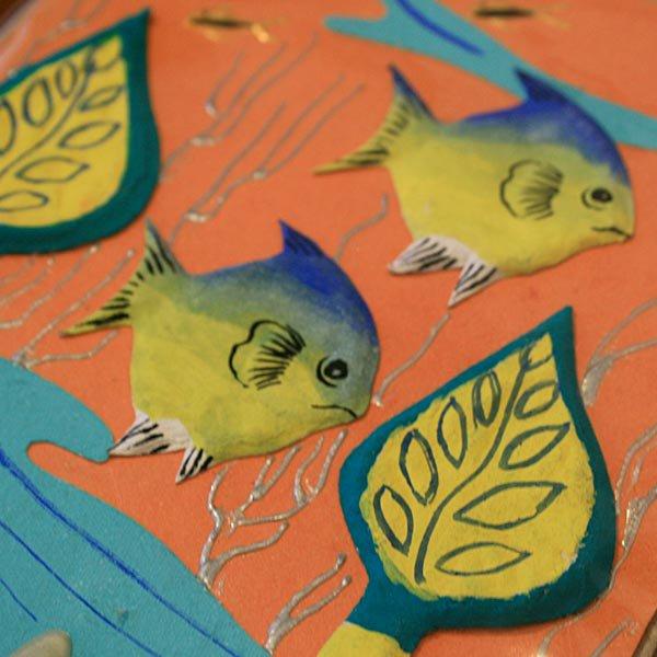 ぞうさんペーパー 海 グリーティングカード(熱帯魚-8)