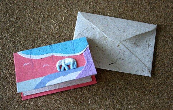ぞうさんペーパー ミニカード(長方形)