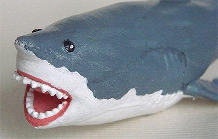 天然ゴムフィギュア ホホジロザメ