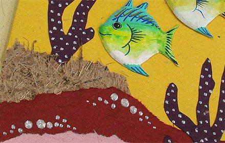 ぞうさんペーパー 海 グリーティングカード(熱帯魚-2)