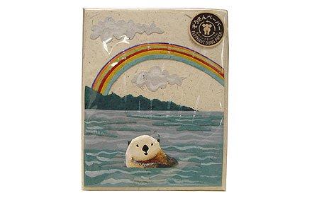 ぞうさんペーパー 海 グリーティングカード(ラッコ)