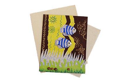 ぞうさんペーパー 海 グリーティングカード(熱帯魚-3)