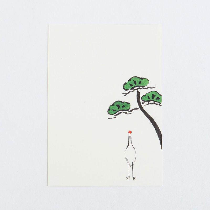 絵はがき「松に鶴」