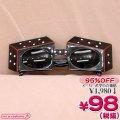 1306D■<即納!在庫限り!> 【B品】超特価・サイコロ仮面サングラス単品 色:黒
