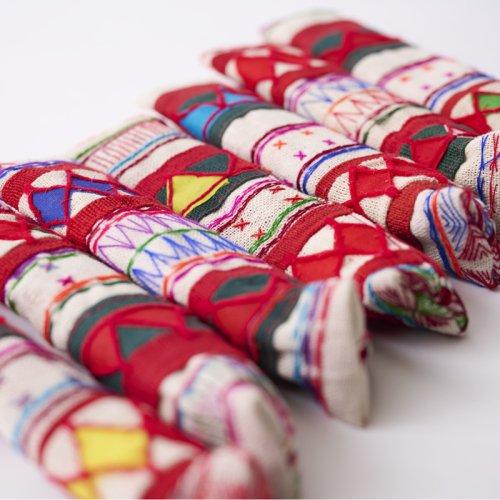 アカ族手刺繍ミニペンケース