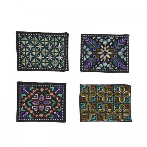 シビライ村の手刺繍コースター