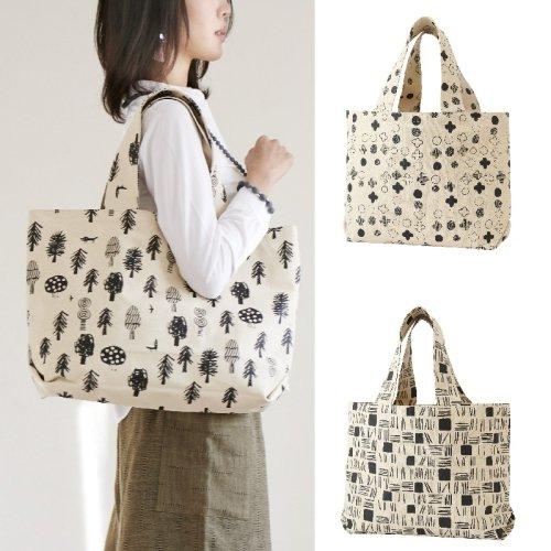 手刷り布のビックバッグ