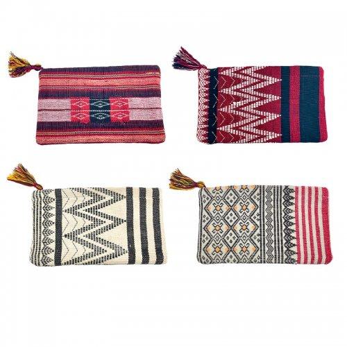 チン族手織りポーチ