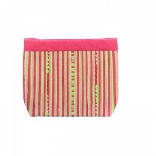 リス族重ね縫いポーチ(ピンク)