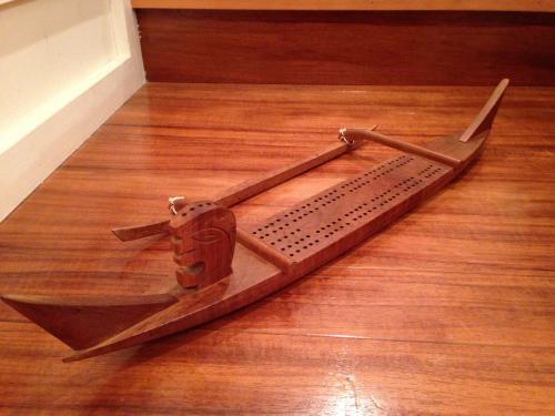 1960's  KOA WOOD Vintage Outrigger Canoe TIKI