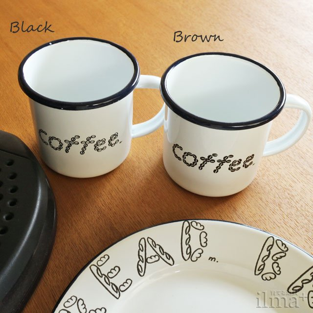 ����ߥ業����ޥ����å� �� Coffee Enamel Mug White �� photo 1