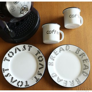 ����ߥ業����ޥ����å� �� Coffee Enamel Mug White �� photo 4