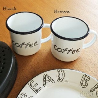 ����ߥ業����ޥ����å� �� Coffee Enamel Mug White