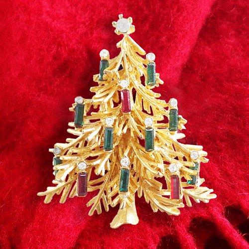 クリスマスツリーのブローチ