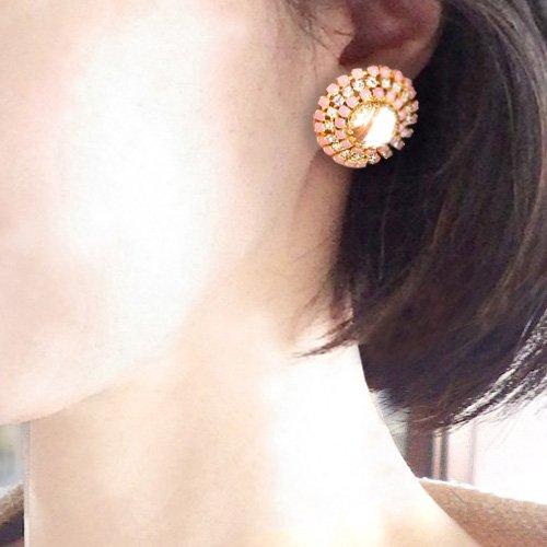 HOBE ホベ ピンク&ホワイトのイヤリング