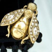 蜂のヴィンテージブローチ Cristian Dior(クリスチャンディオール)