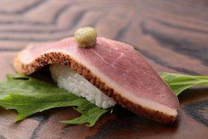 鴨トロ寿司セット