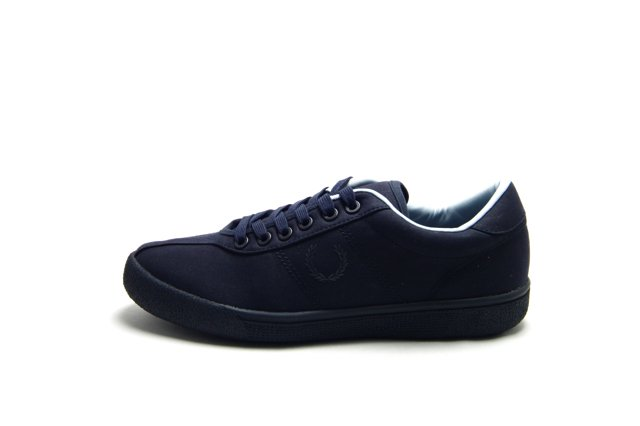 FRED PERRY TENNIS SHOE 1 WAXED COTTON NAVY フレッドペリー