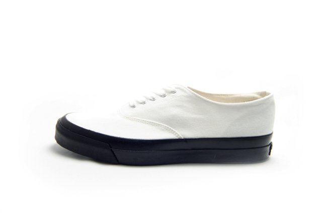 【Made in Japan】ASAHI M014 キャンバス スニーカーWHITE/BLACK